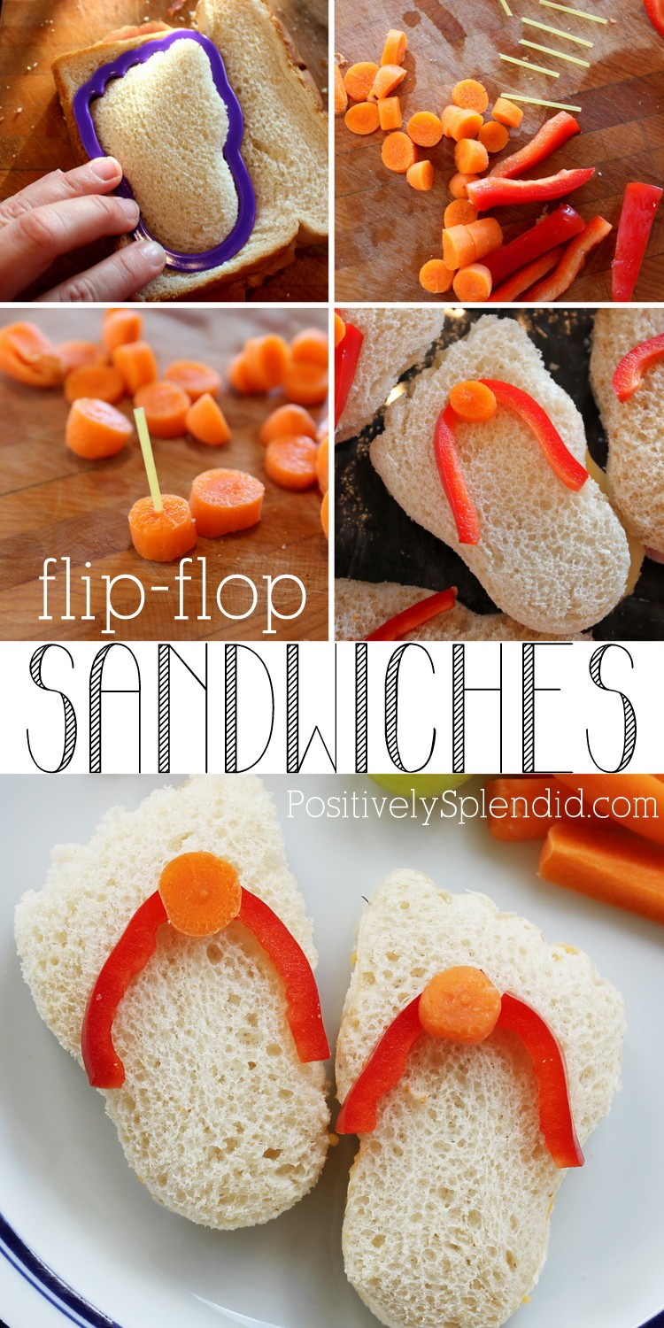 Mini flip flop sandwiches. These are seriously adorable!