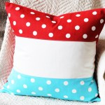 Patriotic Color Block Pillow #ultimateredwhiteandblue