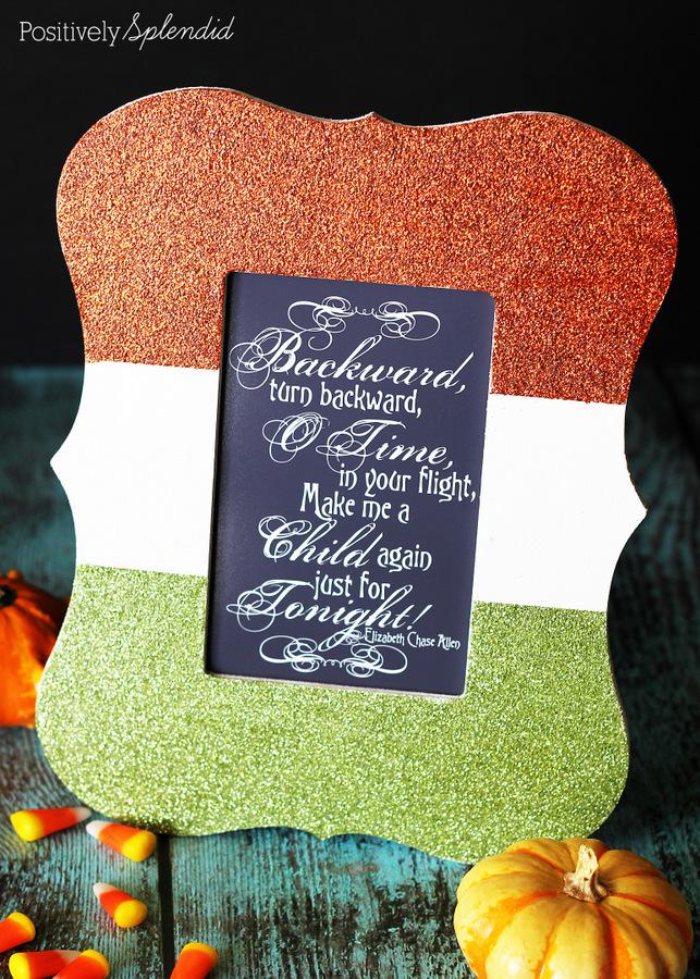 Color-Blocked Glittered Frame by Positively Splendid