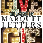 Easy DIY Marquee Letters #MichaelsMakers