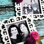 Handmade photo frame magnets. #michaelsmakers