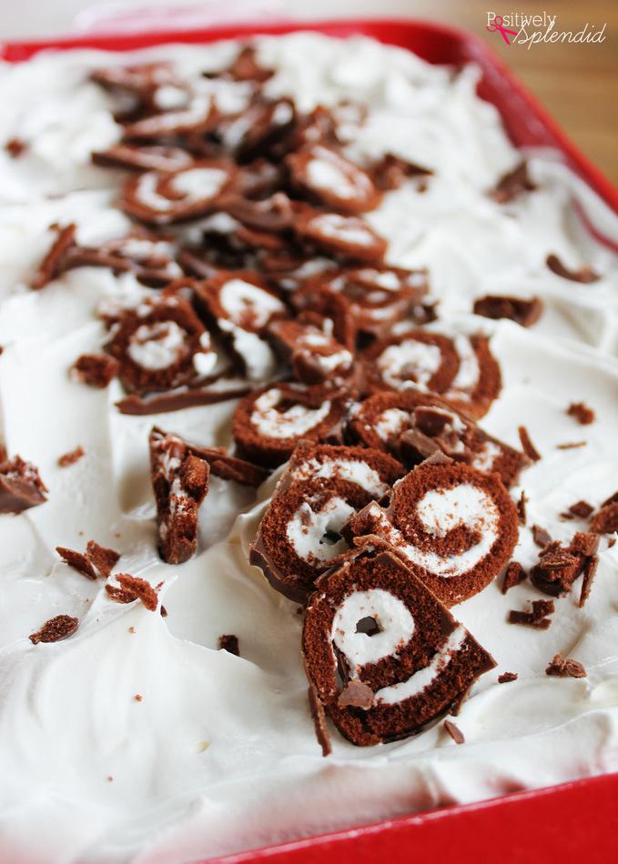 Turtle Swirl Ice Cream Cake - Pretty, delicious and SO easy to make!