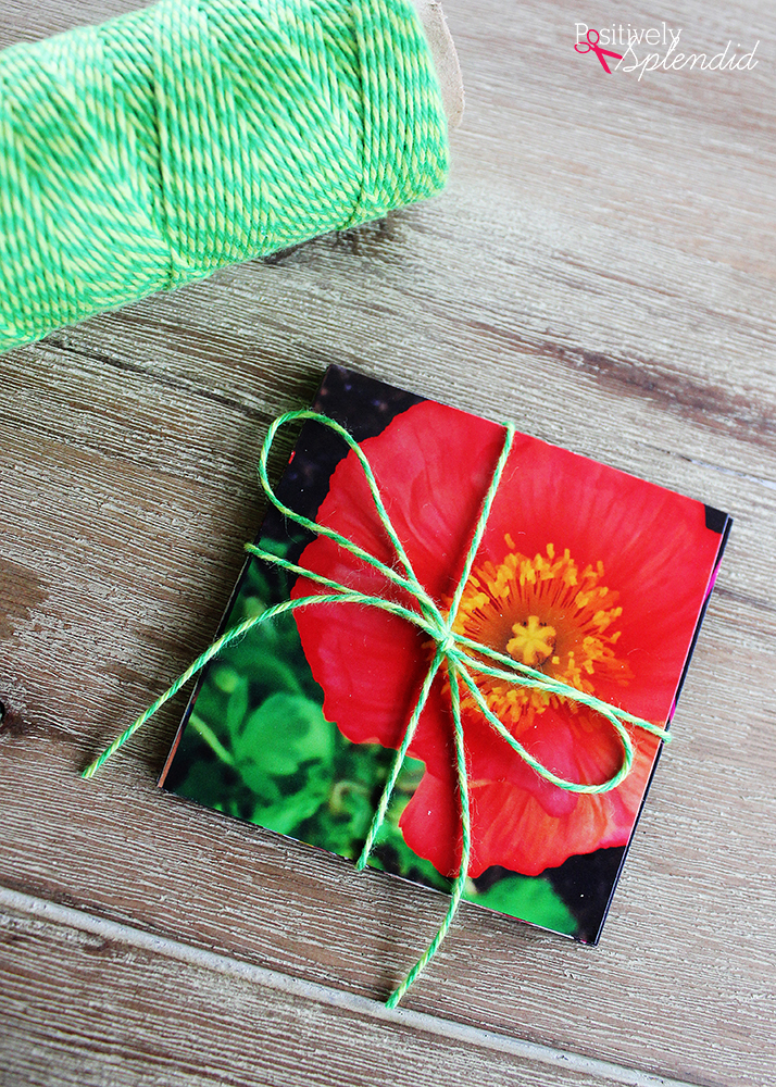 DIY Photo Magnets - Tutorial from Positively Splendid. Free printable tags make this a fun, easy gift idea!