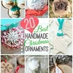 20 DIY Christmas Ornaments to Make + Ultimate Christmas Round-Up!