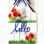 DIY Flowerbox Door Hanging