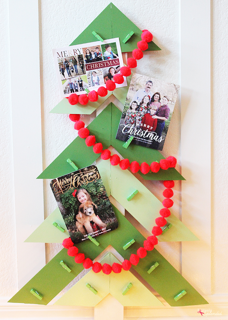 Christmas Tree DIY Christmas Card Holder DIY Christmas
