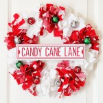 Candy Cane Christmas Rag Wreath Make A Wreath With Fabric Scraps