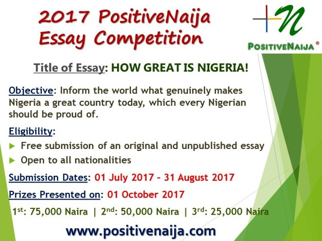 essay contest on how great is nigeria
