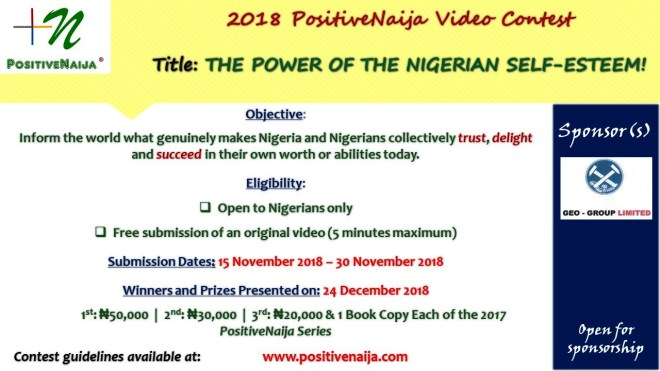 The Power of the Nigerian self-esteem!
