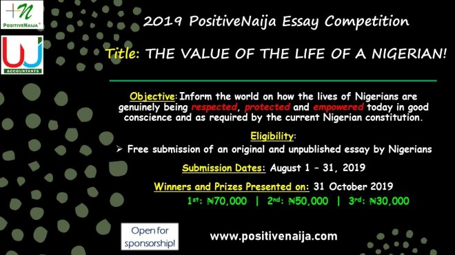 2019 PositiveNaija essay Competition