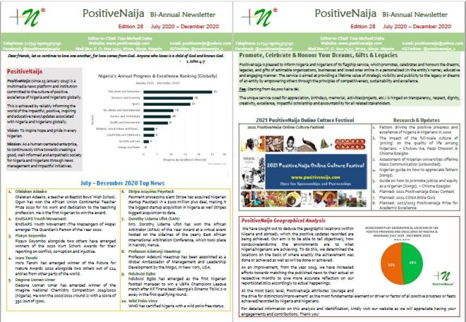 PositiveNaija December 2020 Bi-annual Newsletter