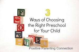 how to choose preschool