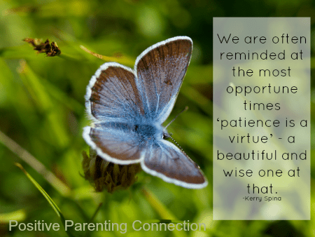 Encouraging Patience In Ourselves and Our Children: Nurturing Patience Part 2