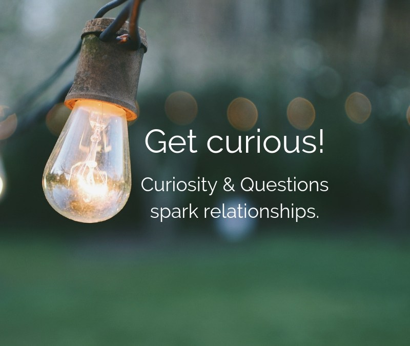 Curiosity and questions spark relationships - get curious!