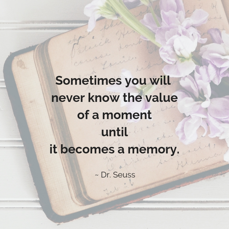 Sometimes you will never know the value of a moment until it becomes a memory. #positive #thankful #positivethanksliving #positiveprompt