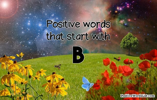 Positive Words That Start With B