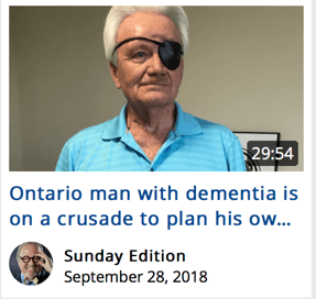 Ontario Man with dementia is on a crusade to plan his own death.