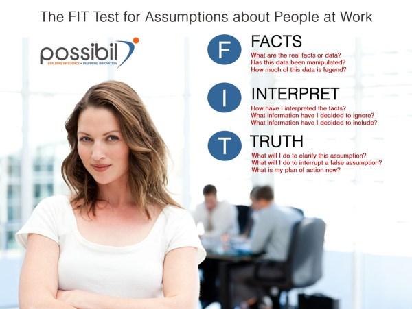 The FIT Test for Testing Assumptions at Work