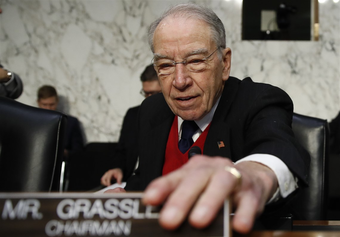 Image result for PHOTOS OF GRASSLEY AS CHAIR SENATE JUDICIARY COMMITTEE
