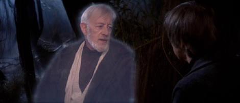 En Star Wars: Episode VI – Return of the Jedi, Luke confronta a su mentor Obi-Wan al enterarse, no sólo de que le ocultó información, sino que le mintió acerca del paradero de su padre. Aun cuando Obi-Wan trata de convencer a Luke de que, desde su perspectiva, le dijo la verdad, el suceso hace reflexionar a Luke sobre su rol como héroe ante la posibilidad de un enfrentamiento contra su propio padre. (Twentieth Century Fox-Lucasfilm)