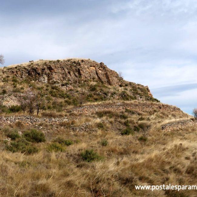La Oruña poblado vistas Moncayo - Postales para Mamá