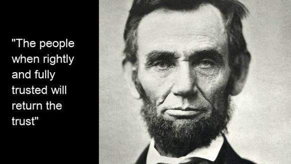 why consumers trust direct mail - abe lincoln quote