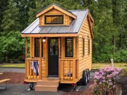 exterior of a tiny house