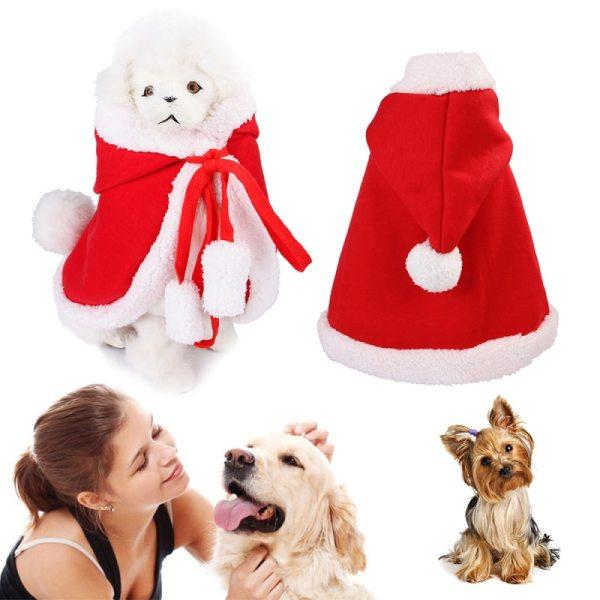Vianočný kabátik s kapucňou pre domácich miláčikov 1