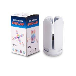 Bluetooth stropná hudobná žiarovka E27  LED 4-listová 6