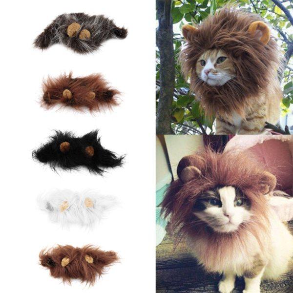 Parochňa pre menšie zviera levia hriva, kostým pre psa aj mačku 1