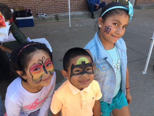 There are so many great activities for kids at the festival, including face painting.