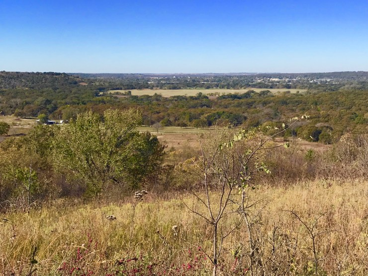 Lookout Mountain view toward Pawhuska, Oklahoma