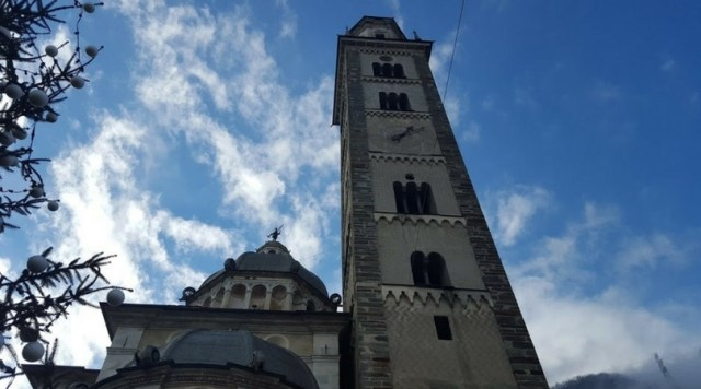The Basilica in Tirano, Italy, at the end of the Bernina Express. [Photo: Nicole Lamberson]