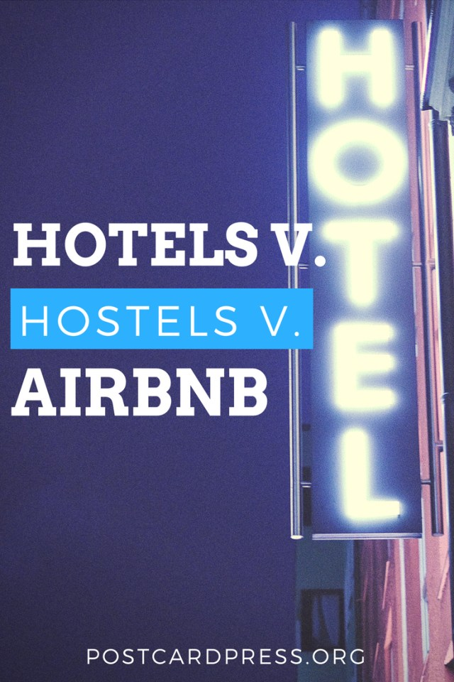 Hotel or hostel? That's always the big question when you're traveling. In today's article, Sam weighs the pros and cons of both. As a bonus: she also talks about the pros and cons of Airbnb