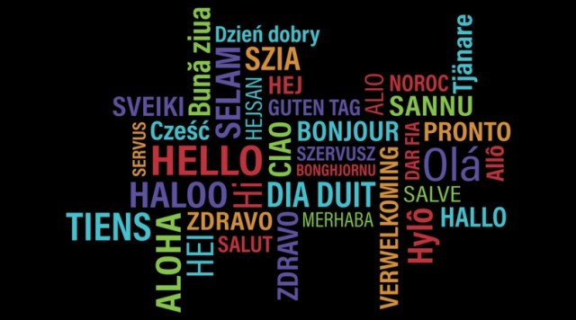 word cloud - Hello in different languages
