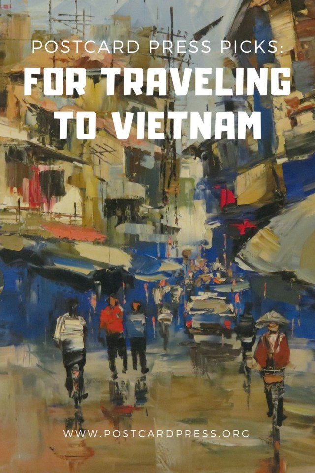 Vietnam Pinterest Image - Painting of a Vietnamese Street