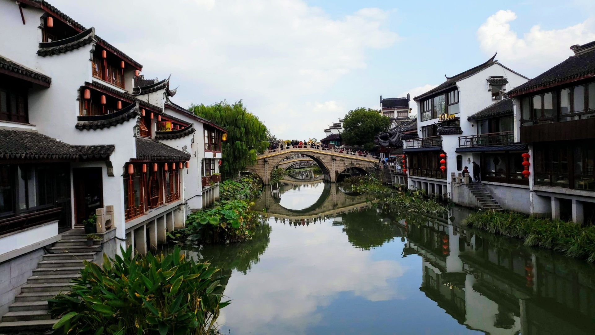 Qibao Featured Image: Image of Qibao Ancient Town along the Puhui River