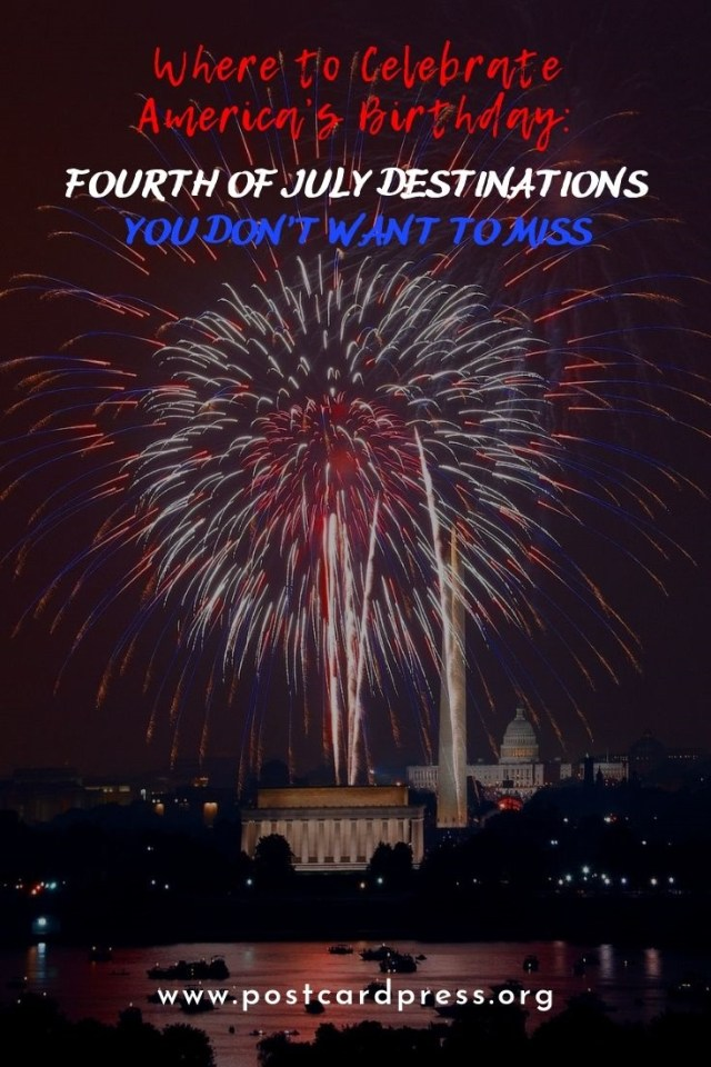 Fourth of July Destinations Pinterest Image