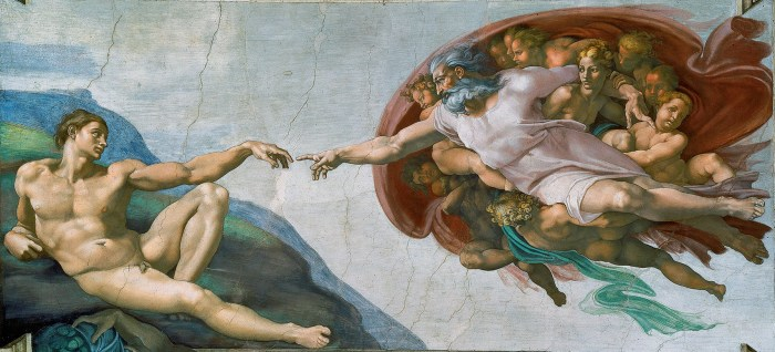 photo credit: Wikipedia, The Creation of Adam, by Michelangelo