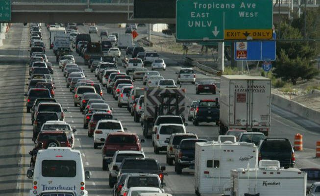 Las Vegas traffic courtesy of tvhs1964.blogspot.com