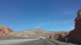 Entering Virgin River Gorge