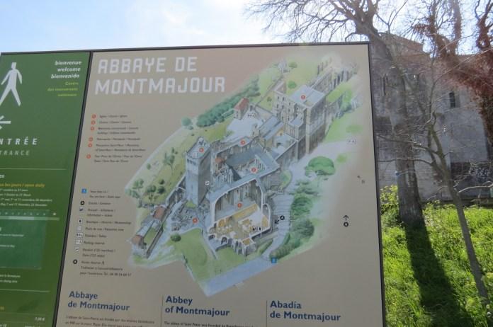 Diagram of the entire Montmajour Abbey enclosure