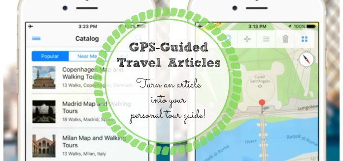 GPS-guided travel article