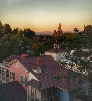 Sunset view from the Tarzan tree