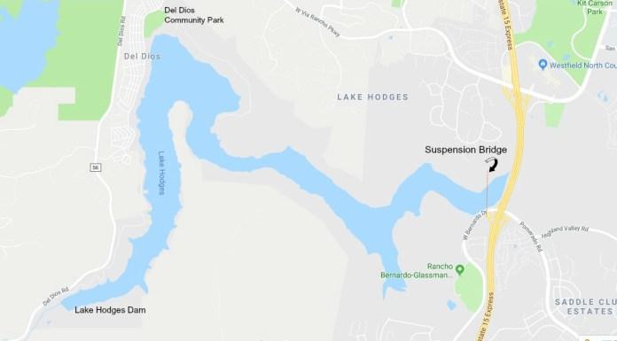 Lake Hodges map