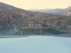 Sea Level at Death Valley