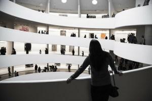 standing in museum