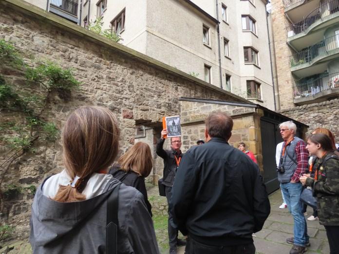 tour guide & medieval Edinburgh city wall