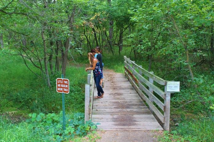 Bridge on trail system at Fort Ransom State Park. Photo via North Dakota Tourism