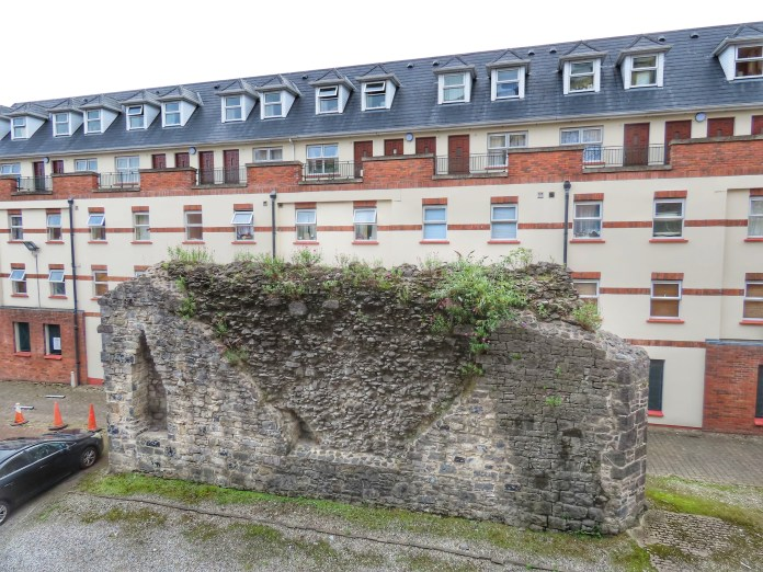 Limerick medieval wall in parking lot